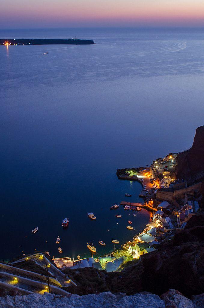 Ammoudi bay by night, Santorini ~ Greece