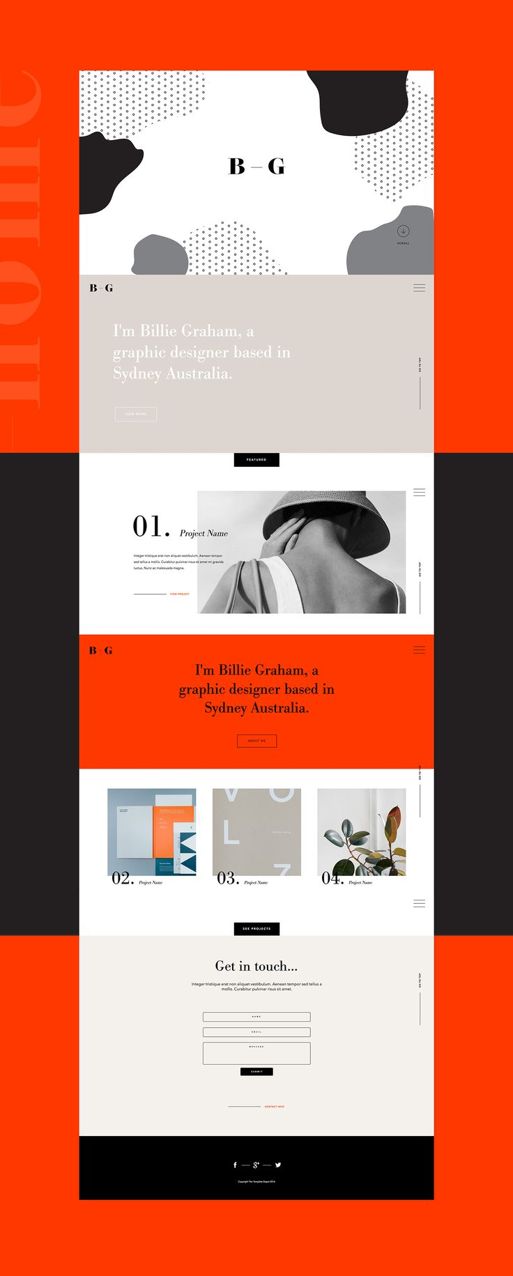 Folio.2 - Adobe Muse Template on Behance