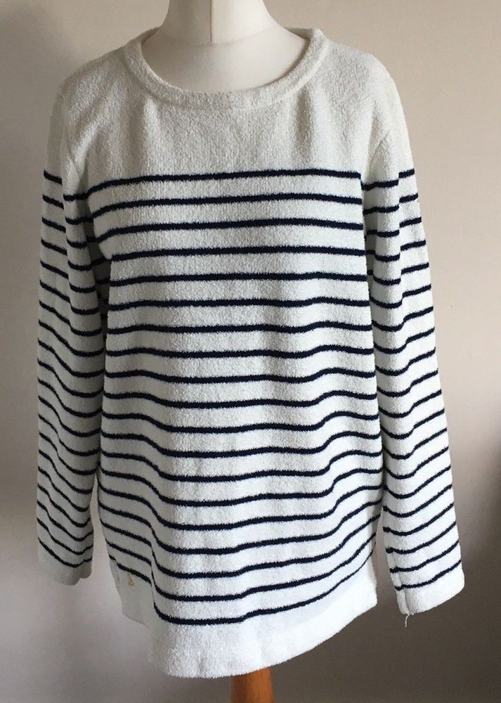 ce1d6d609f7 Joules Knitwear Sz 16 Ladies Long Sleeve White Cream Jumper With ...