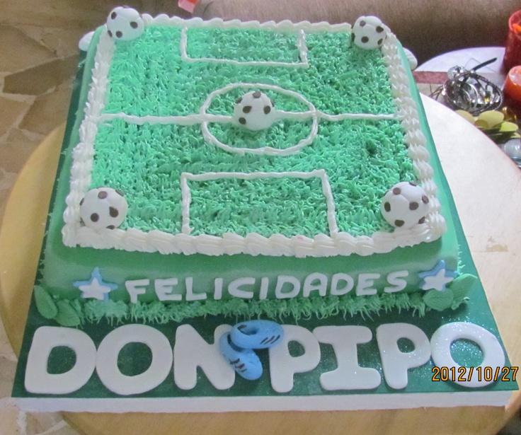 Torta De Cancha Futbol Cumplea 241 Os Ni 241 Os Pinterest