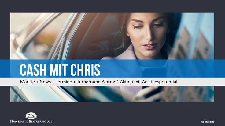 Cash mit Chris: Märkte + News + Termine: Turnaround Alarm: 4 Aktien mit Anstiegspotential https://youtu.be/Fi12giFVhd8