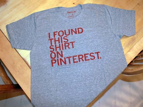 My shirt arrived! :-)  I'm so happy!  According to the hubster I am now the ultimate Pinterest nerd!  Yay!: Creative Gifts, Gifts Ideas, Pinterest Nerd