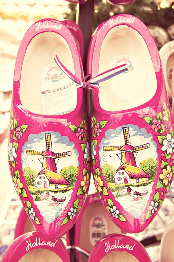 Pink Clogs Amsterdam Photo Home Decor  Dutch girl  by chezjolly, $30.00