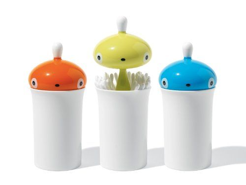 A di Alessi Pisellino Q-Tip Holder by Alessi #QTip_Holder
