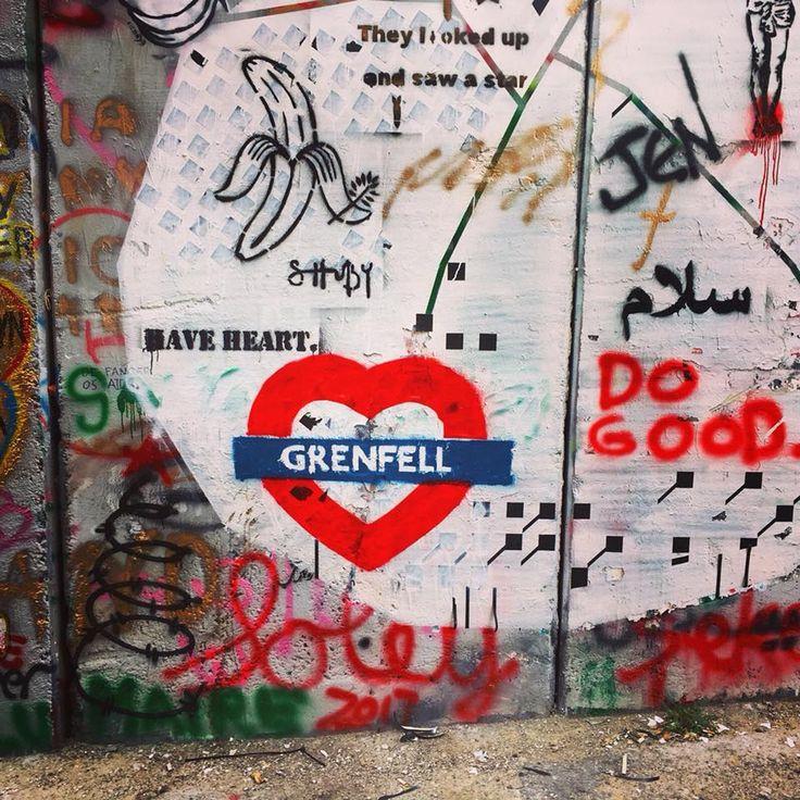 #Graffiti erinnert an die Opfer vom Brand im #Grenfell Tower in #London – art deli