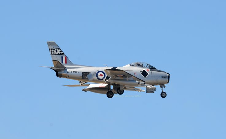 CAC Sabre A94-983 at CMA 2014, Point Cook. #RAAF #military #jet #CAC #ozbuilt…