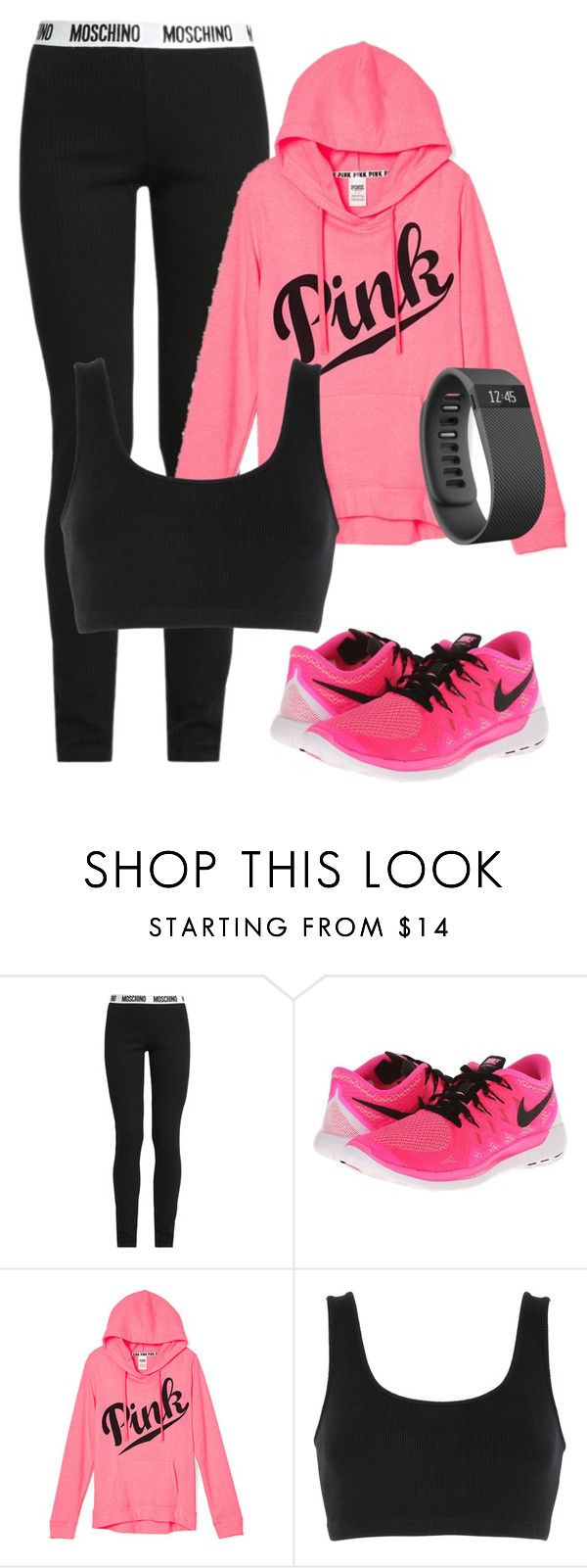 """5th"" by marialibra on Polyvore featuring Moschino, NIKE, adidas Originals, Fitbit, women's clothing, women, female, woman, misses and juniors"