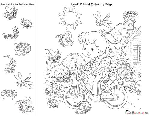 find it coloring pages | Look & Find Coloring Pages for Facebook Fans | Coloring ...