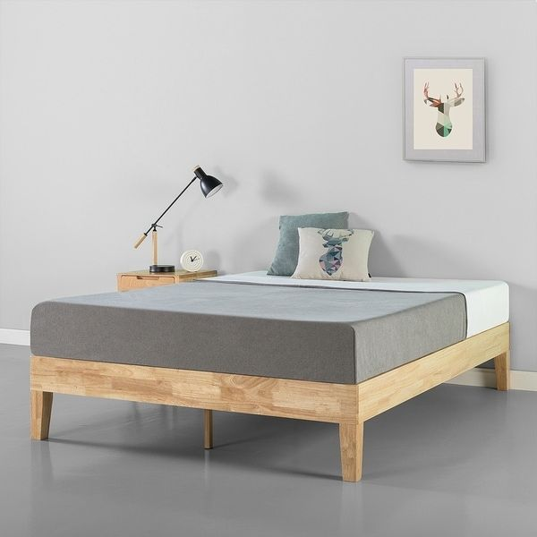 Priage By Zinus 14 Inch Deluxe Solid Wood Platform Bed Solid Wood Platform Bed Wood Platform Bed Wood Platform