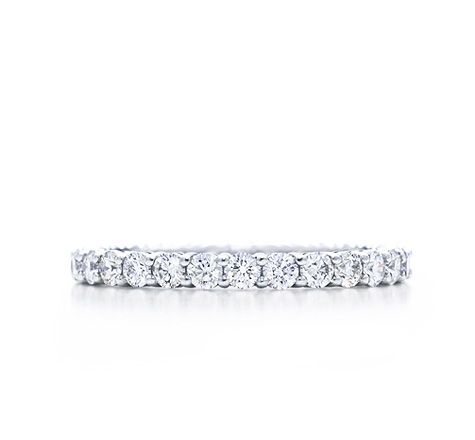 Tiffany & Co. | Item | Shared-setting band ring with diamonds in platinum, 2.2mm wide. | United States
