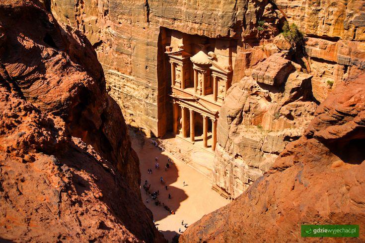 Skarbiec w Petrze, Jordania #petra #jordan #kazaar Więcej zdjęć: http://gdziewyjechac.pl/18604