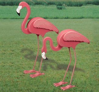 3D Life-Size Flamingos Woodcrafting Pattern