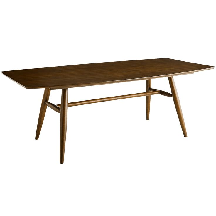 Jackson Rectangular Table With Metal Base: Marcel Table - Pecan Brown - Wood