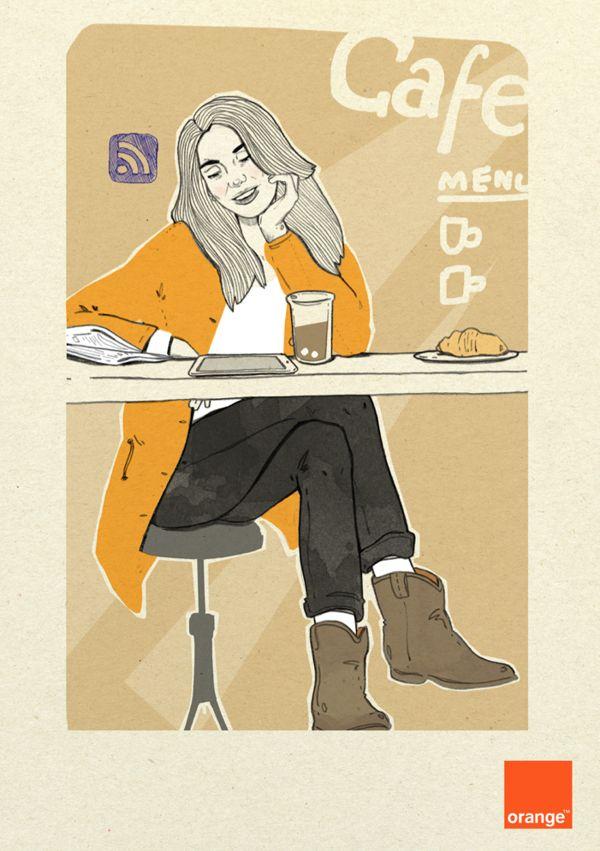 Orange Polska 1 by Magdalena Pankiewicz, via Behance