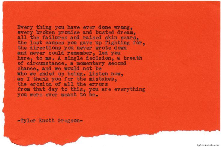 Typewriter Series #1332 by Tyler Knott GregsonCome say hello @TylerKnott on Instagram, Facebook, and Twitter!