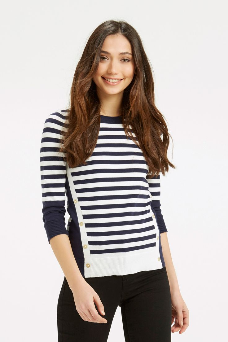 Nautical Stripe Knit. Was £38, NOW £20 - http://www.oasis-stores.com///oasis/fcp-product/5749200