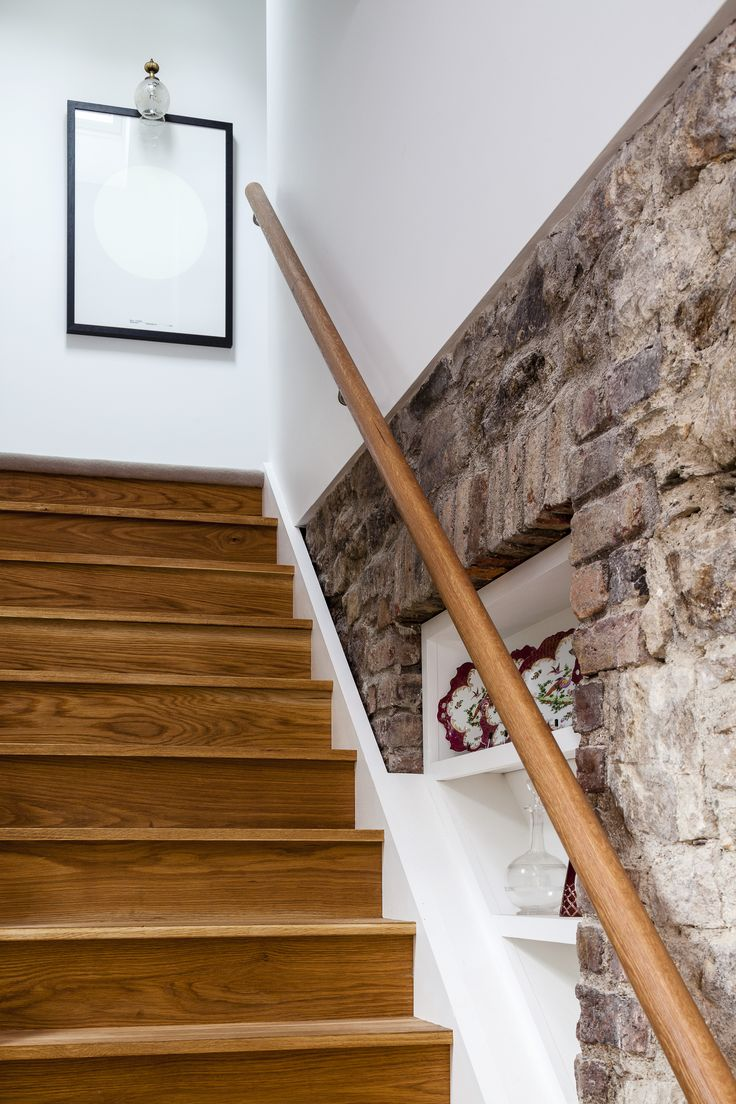 Best Solid Oak Stair Detail Again Exposed Stone Wall In 400 x 300