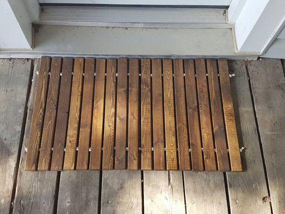 Beautiful Welcome Door Mat Made From Wood And Strung Together With All  Purpose Rope And Stainless