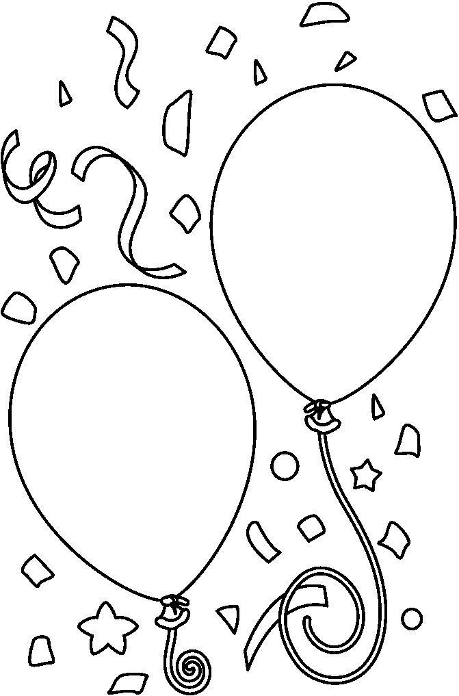 Baloes de aniversario para colorir