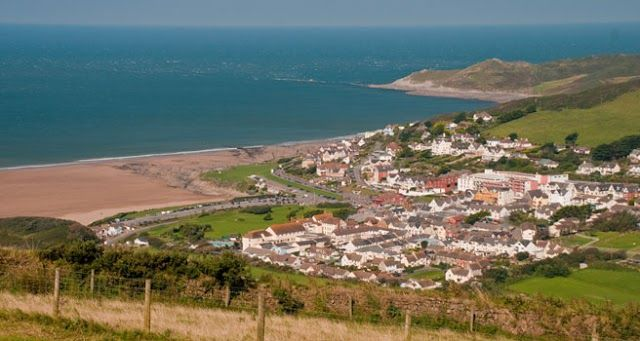 Birds eye view of woolacombe beach.  Woolacombe Sands Holiday Park  https://www.campsitechatter.com/campsites/pinboard/Woolacombe-Sands-Holiday-Park/5779562952439790689
