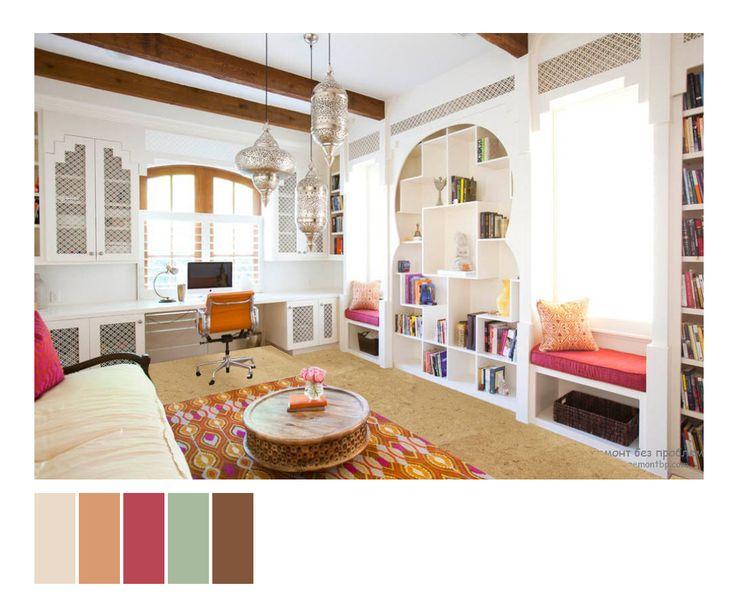 Коллаж детской комнаты в восточном стиле