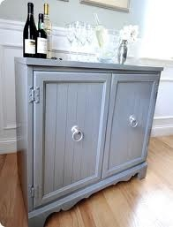 diy bar cabinet - Google Search image