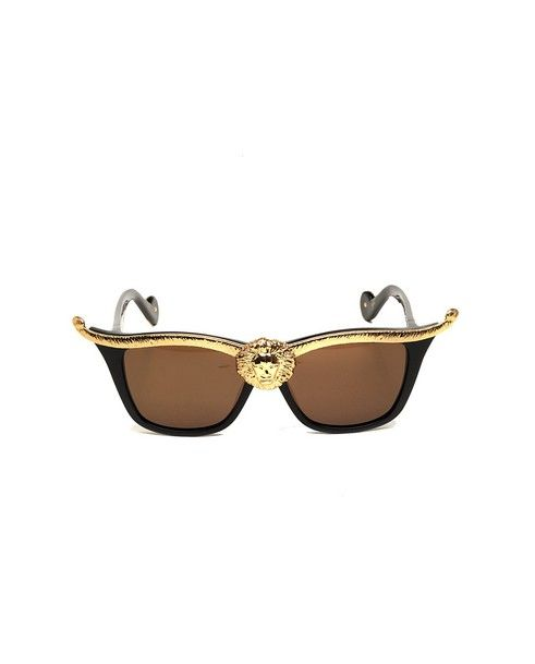 ANNA-KARIN KARLSSON Sunglasses Lioness black/gold variant shaded black lenses acetate material supplied with sunglasses case and box