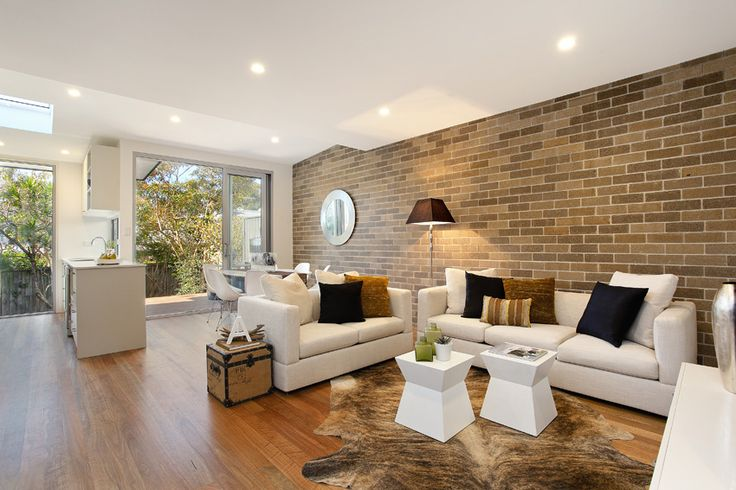 exposed internal brick, timber floors, Leslie Solar project with Keith March Constructions