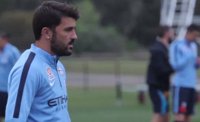 David Villa scores on Melbourne City debut in A-League opener against Sydney FC 11 Oct 2014