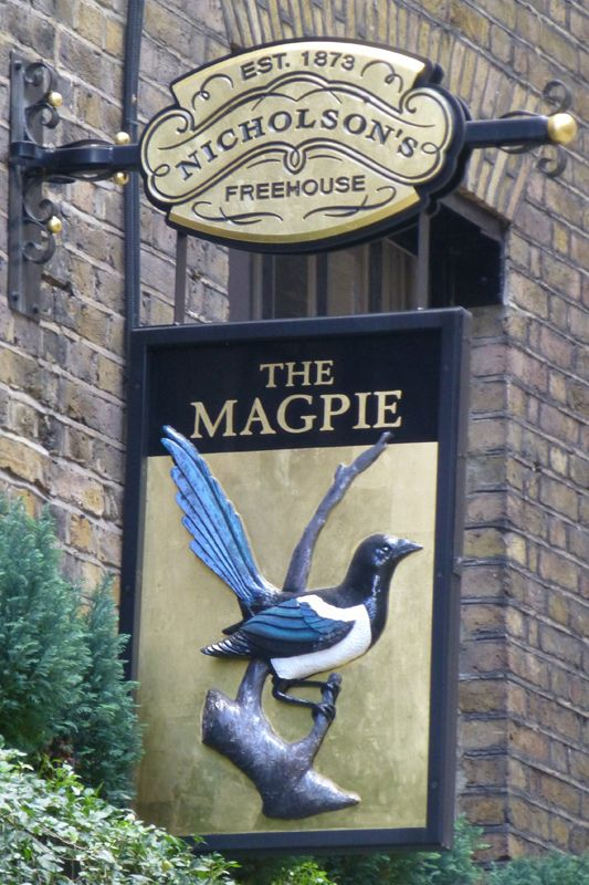 Magpie, London EC.2 | Flickr - Photo Sharing!