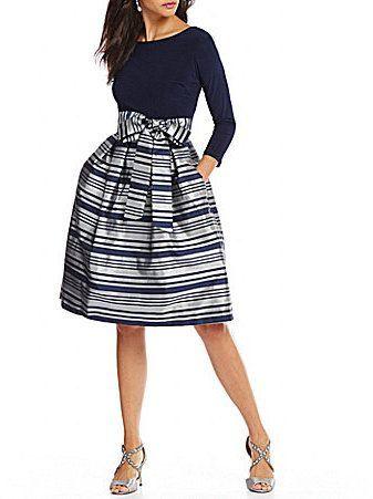 bfcd31fbf182a Jessica Howard Metallic Striped Party Dress  affiliatelink