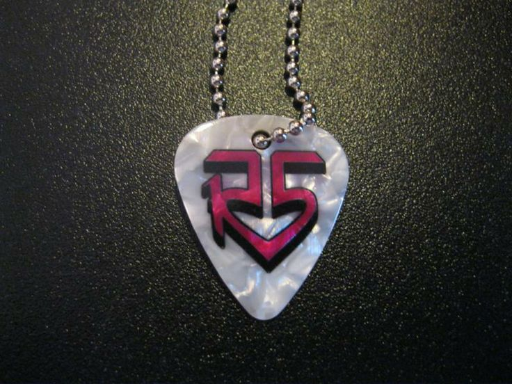 White Guitar Pick Necklace | R5 Rocks