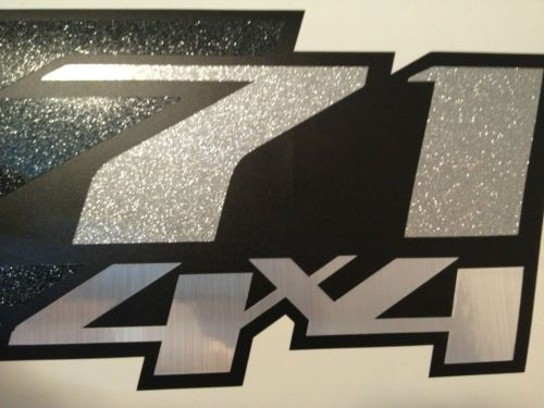 2 z71 4x4 decals stickers chevrolet flat black metallic colors or any color