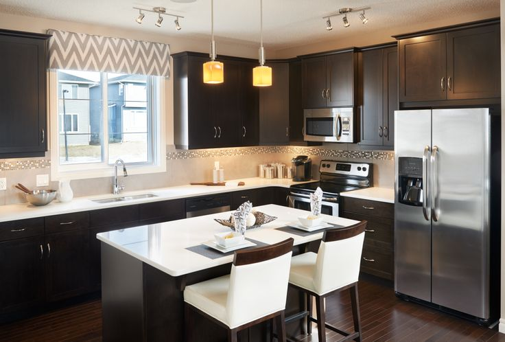 The Vernon Kitchen in Redstone – Trico Homes – Check out the new homes built by www.tricohomes.com #homebuilder #tricohomes #calgary