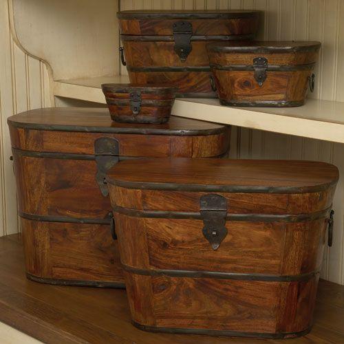 wood & iron boxes  - amazing and beautiful