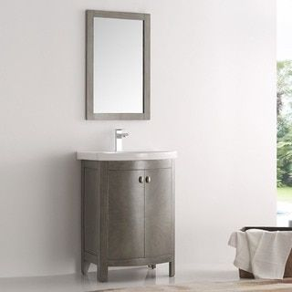 Shop for Fresca Greenwich Antique-silver Wood 24-inch Single-sink Bathroom Vanity. Get free delivery at Overstock.com - Your Online Home Improvement Outlet Store! Get 5% in rewards with Club O!