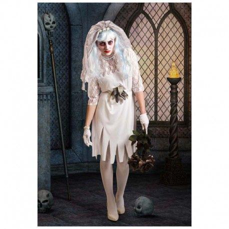 Disfraces Halloween mujer | Disfraz de novia cadáver. Aterroriza a todo el mundo con este aparente modelo. Compuesto de vestido con blonda, velo y adorno para la cintura. Talla M. 16,95€ #novia #cadaver #noviacadaver #disfraznovia #disfranoviacadaver #disfraz #halloween #disfrazhalloween #disfraces