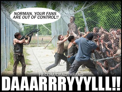 The fangirls attack! #TheWalkingDead<<<<I read this in Rick's voice XD