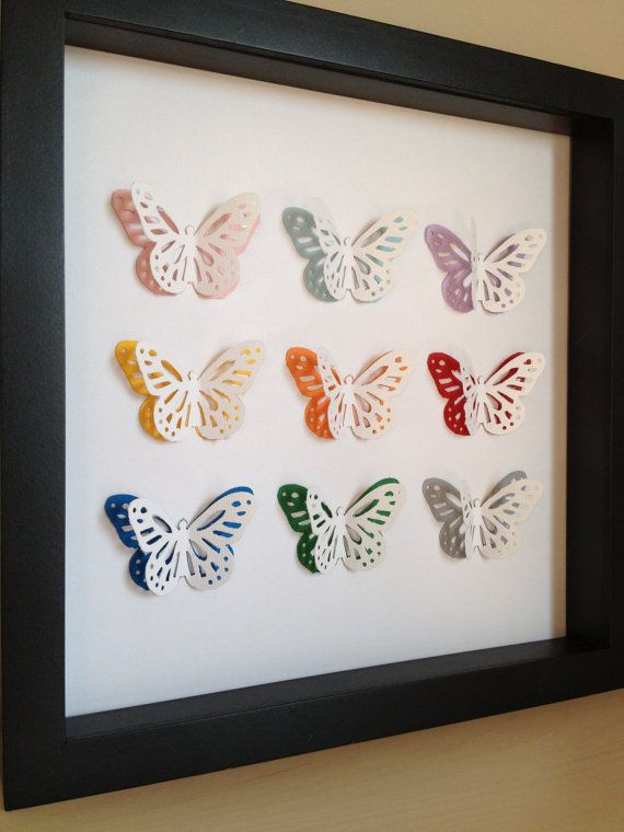 Ready to ship SALE Colorful Butterfly 3D Paper Art by PaperLine