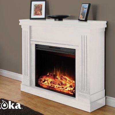 Muskoka Mm2830w Palmer Mantel Electric Fireplace White By Muskoka