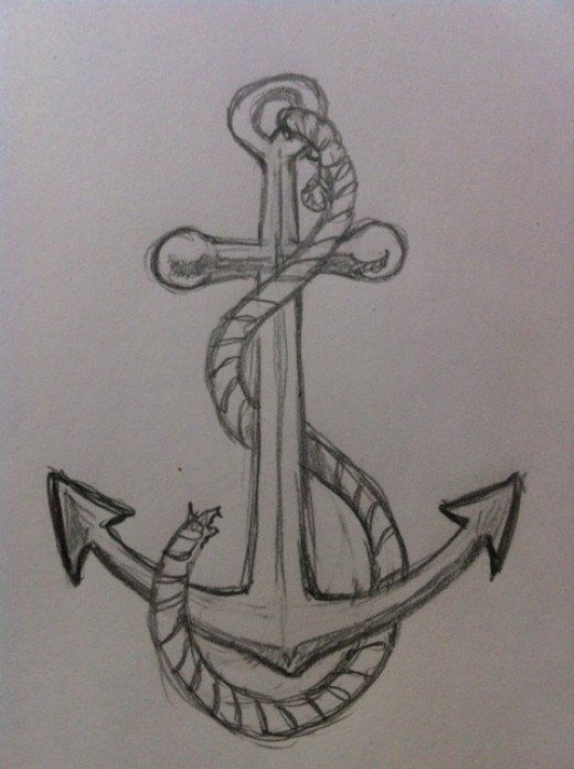 How To Draw An Anchor Art Pinterest Art Sketches Drawings And Art