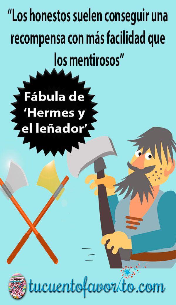 Hermes Y El Lenador Una Fabula Sobre La Honestidad Honestidad Para Ninos Cuentos De Valores Fabulas