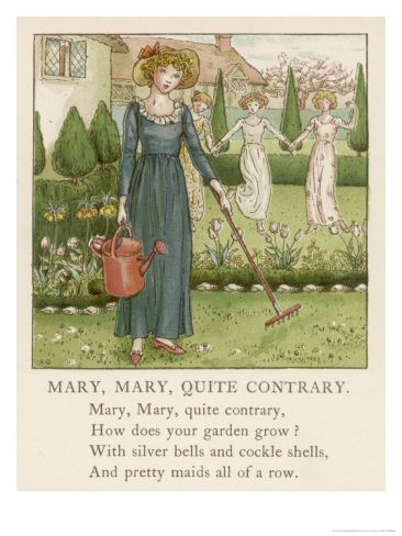 Mary Mary Quite Contrary How Does Your Garden Grow? Giclee Print by Kate Greenaway at Art.com