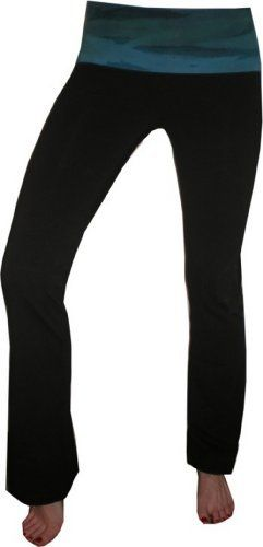 Hard Tail Foldover Bootleg Flare with Side Circle Waist Hard Tail. $72.00