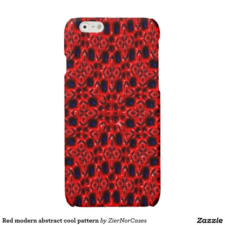 Red modern abstract cool pattern glossy iPhone 6 case