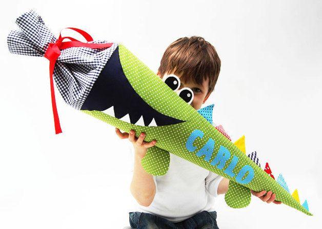 Schultüten - Schultüte Krokodil - ein Designerstück von josefines-kinder bei DaWanda