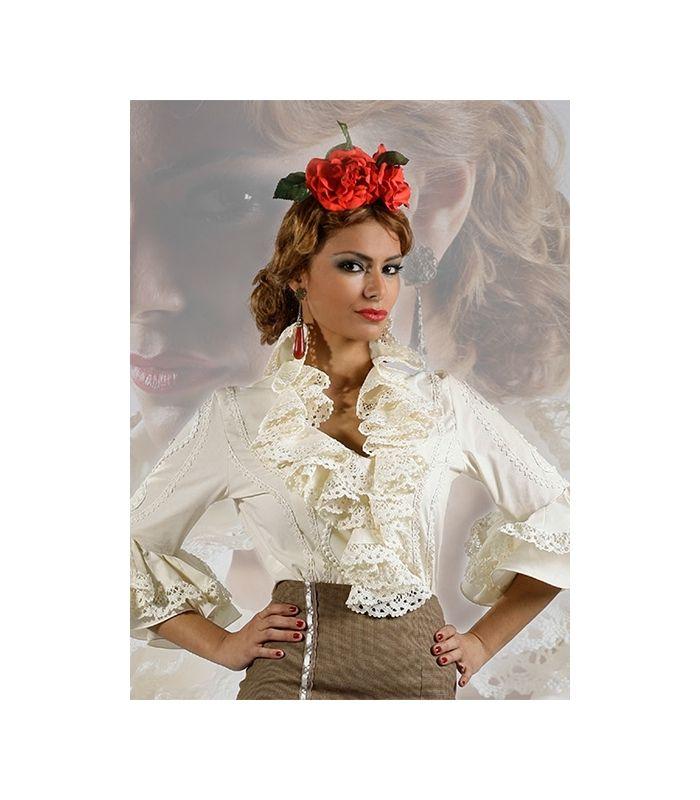 Blusas Flamencas Daniela nueva temporada 2016 en la tienda online de trajes de flamenca El Rocío