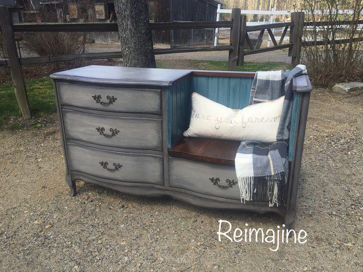 DIY Desk To Bench • Grillo Designs                                                                                                                                                                                 More