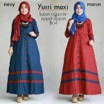 Gamis Remaja Yurri Maxi Bahan Katun - Baju Muslim Modern