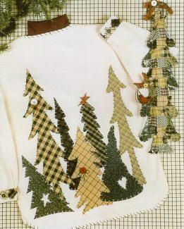 Caught Up in Stitches KS 184 Family of Trees sweatshirt applique pattern